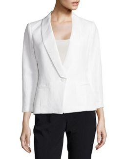 Linen Blend One Button Jacket