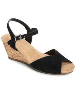 Cupcake Suede Wedge Heel Sandals