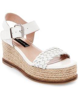 Sabble Leather Espadrille Platform Sandals
