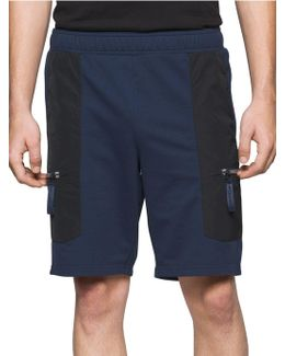 Contrast Sweat-shorts