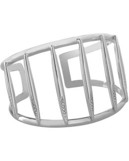 Glass Stone Cuff Bangle