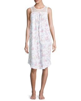 Floral Long Nightgown