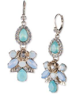 Floral Pattern Cluster Drop Earrings