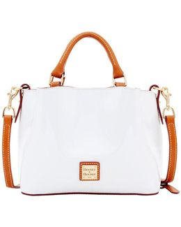 Mini Barlow Patent Leather Satchel