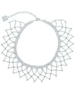 Crochet Chain Wide Choker Necklace