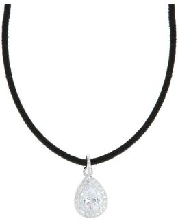 Velvet Teardrop Pendant Choker Necklace