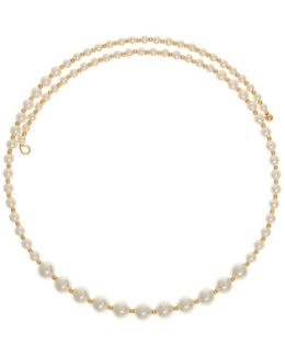 4mm-8mm Faux Pearl Coil Choker Necklace