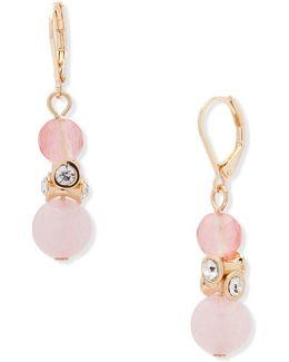 Reconstituted Semi-precious Stone & Crystal Drop Earrings