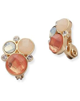 Reconstituted Semi-precious Stone & Crystal Earrings