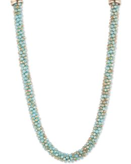 Crystal Studded & Beaded Necklace