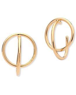 Double Hoop Earrings-1-inch