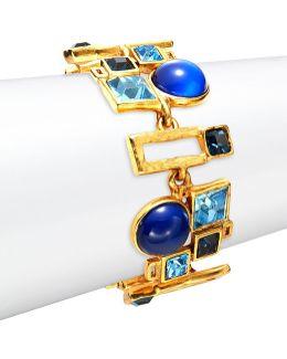 Geometric Stone Embellished Toggle Bracelet
