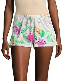 Tropical Print Sleep Shorts