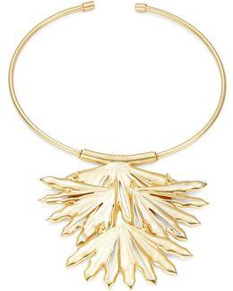 Brass Palm Leaf Choker