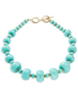 Fashion Graduated Semi-precious Beaded Collar Necklace