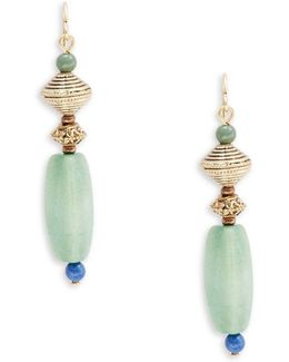 Beaded And Semi-precious Stone Linear Pierced Earrings