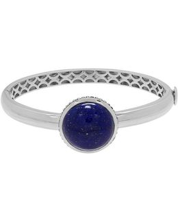 Lapis And Sterling Silver Bangle