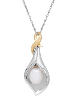 10/7mm White Oval Freshwater Pearl Necklace