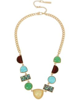 Rough Luxe Multi-stone Studded Necklace
