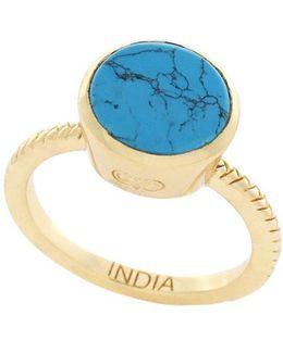 3/25 Spring Street Semi-precious Round Stone Ring