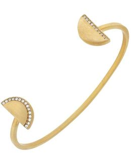 3/25 Madison Ave Pave Core Half Moon Open-cuff Bracelet