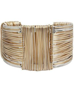 Wired Warrior Two-tone Cuff Bracelet