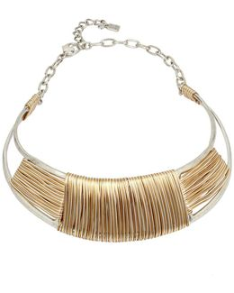 Wired Warrior Two-tone Necklace