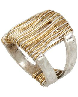 Wired Warrior Two-tone Wrapped Ring