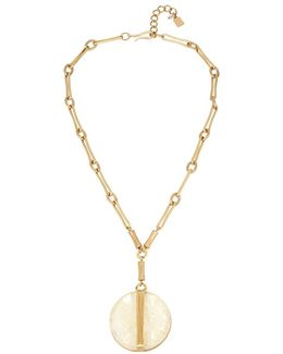 Golden Hour Mother Of Pearl Pendant Necklace
