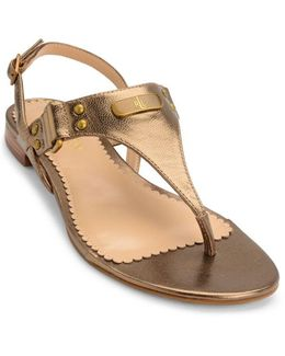 Valinda Leather Thong Sandals