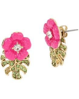 Tropical Punch Flowers And Leaves Earring Jacket