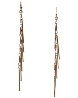 Fringe Florals Linear Earrings