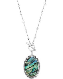 Key Items Semi-precious Stone And Abalone Reversible Necklace