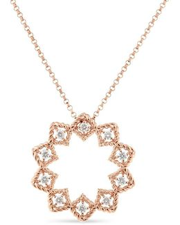Diamond, Genuine Crystal & 18k Yellow Gold Necklace