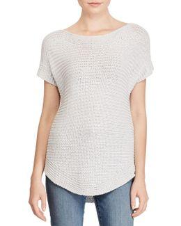 Metallic Boatneck Sweater