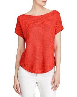 Short-sleeve Boatneck Sweater