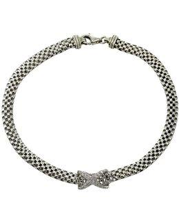 Sterling Silver Flat Popcorn Chain Bracelet