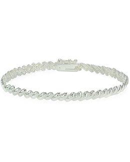 Sterling Silver High Polished S Link Bracelet