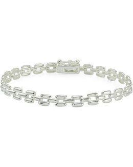 Sterling Silver High Polished Panther Link Bracelet