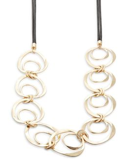 Nested Circle Statement Necklace