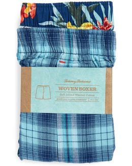 Two-pack Woven Cotton Boxers