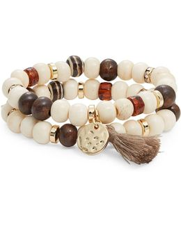Beaded Double Stacked Stretch Bracelets