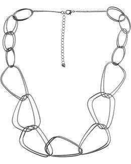 Metal Revival Interlocking Organic Link Necklace