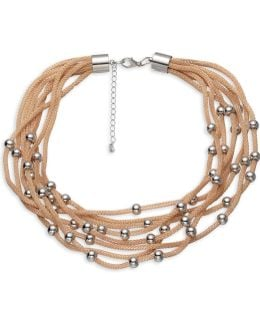 Metal Revival Mesh Chain Layered Necklace