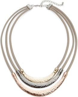 Sterling Silver And Leather Necklace