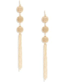 Ball Tassel Linear Drop Earrings