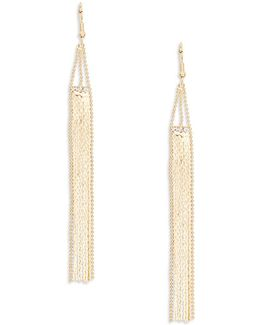 Stone-accented Fringe Drop Earrings
