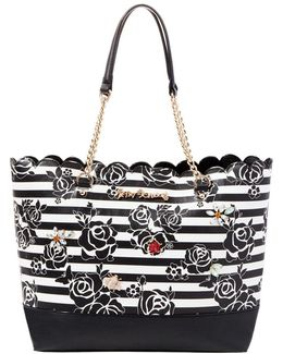 Glam Garden Striped Tote