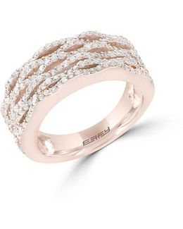 Final Call Diamond And 14k Rose Gold Ring