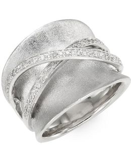 0.25 Tcw Diamond & Sterling Silver Ring
